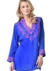 barbara gerwit royal hot pink cotton tunic