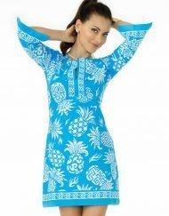 580c12 coordinate knit dress light blue