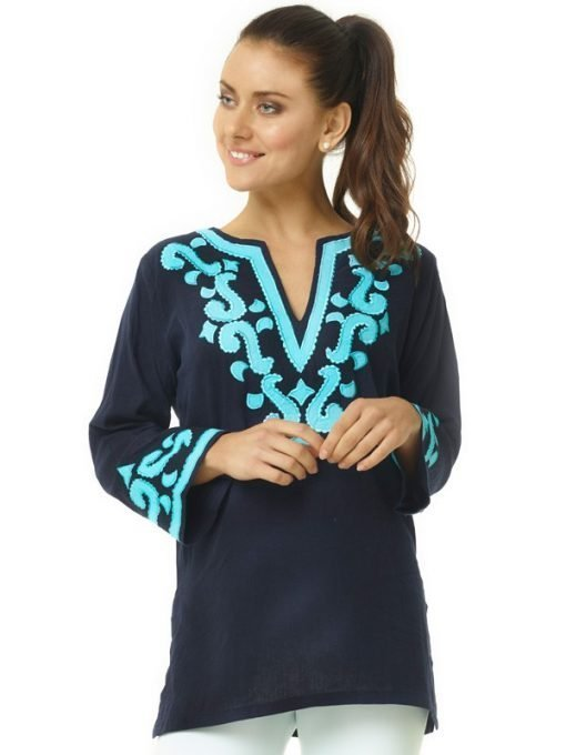 520r18 embellished linen tunic 2