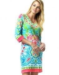220C59 Engineered Knit Dresses Pink-Multi