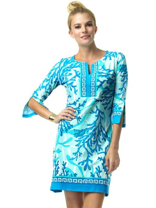 580C57 Engineered Knit Dress Blue-Seafoam 99825