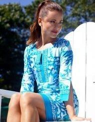 580c57 engineered knit dress blue seafoam