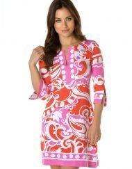 580c80 engineered knit dress pink coral