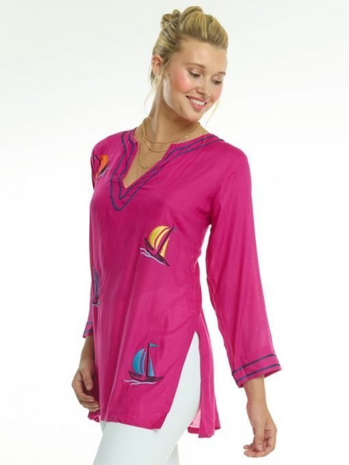 520r69-embroidered-jacquard-silky-cotton-tunic-hot-pink